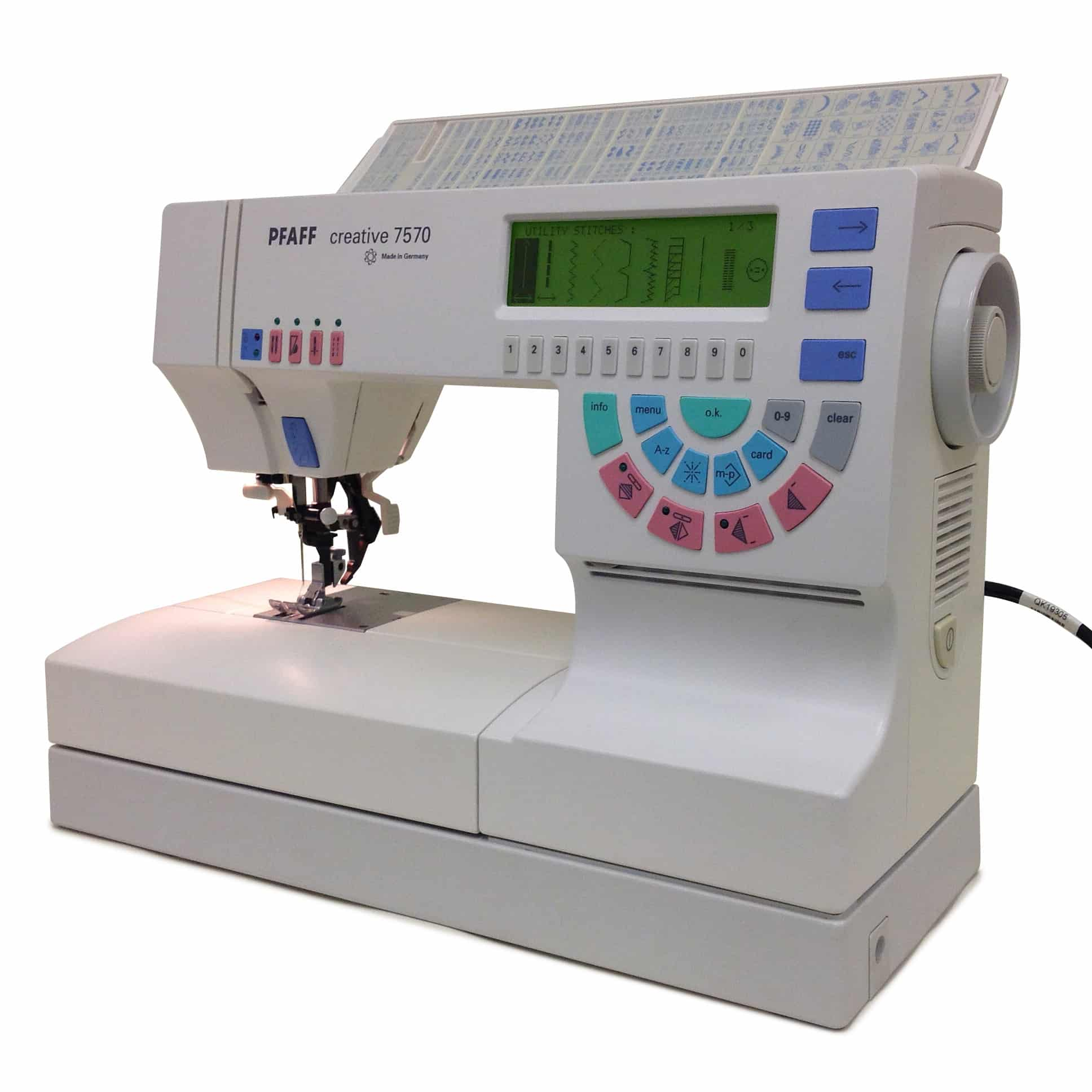 pfaff creative 7570 embroidery machine